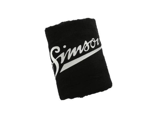 10069546 Badehandtuch, schwarz, Größe: 150 x 100cm, Motiv: SIMSON - 100% Baumwolle - Bild 1