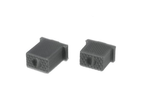 Set: Knopf für Hupe & Lichthupe 3D, Silbergrau, Doppeltaster - für S51, S70, SR50, SR80 - MZ ETZ,  10069585 - Bild 1