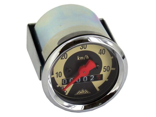 Tachometer SR2E, SR4-1, KR50, Ø48mm, 60-km/h-Version - gewölbtes Tachoglas,  10063117 - Bild 1