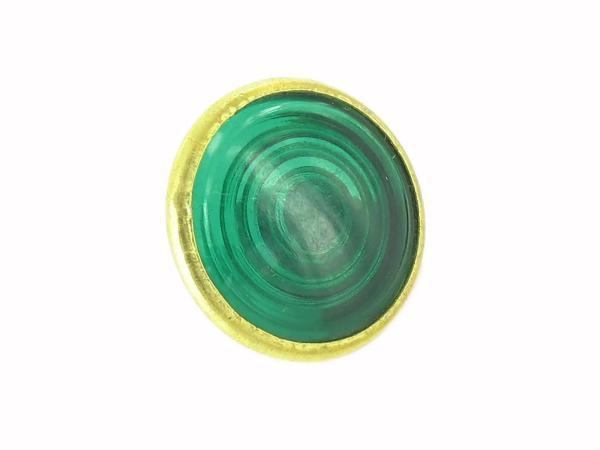 10013544 Kontrollglas, Grün, Messing-Fassung, Ø16mm -  für Simson KR51/1 Schwalbe, SR4-2 Star, SR4-3 Sperber, SR4-4 Habicht, AWO, MZ RT, BK350, EMWR35 - Bild 1