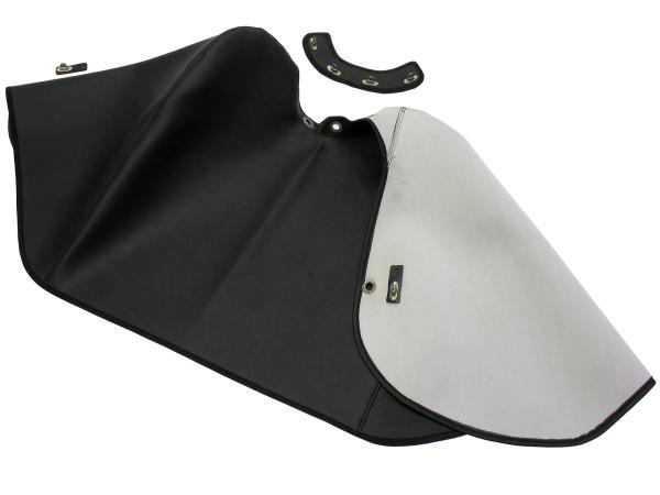 Knieschutzdecke alte Ausführung + Halteband schwarz, gefüttert - für Simson KR51/1 Schwalbe, KR51/2 Schwalbe,  10062368 - Bild 1