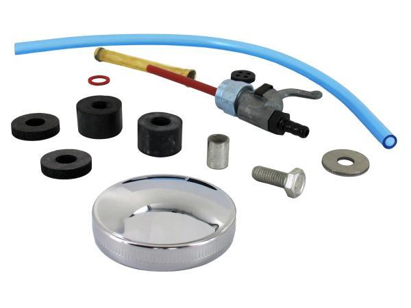 Set: Zubehör und Anbauteile für Kraftstofftank - Simson S50, S51, S70,  10044003 - Bild 1