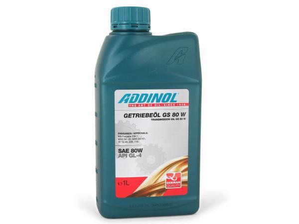10055092 ADDINOL GS80W, Getriebeöl für Lenk-Verteiler und Handschaltgetriebe, mineralisch, 1 L Dose. - Bild 1