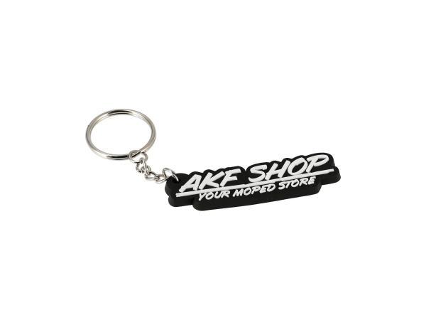 """Schlüsselanhänger """"AKF SHOP"""" aus Soft-PVC, mit Schlüsselring,  10070092 - Bild 1"""