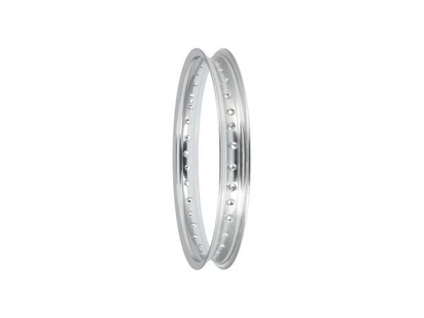 Felge - 1,85 x 18 Aluminium poliert (Hinterrad) passend für MZ ES125, ES150, TS125, TS150,  10062924 - Bild 1