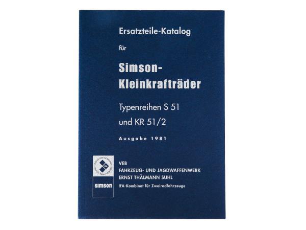 Ersatzteilkatalog, Ausgabe 1981 - Simson S51, KR51/2 Schwalbe,  10064404 - Bild 1