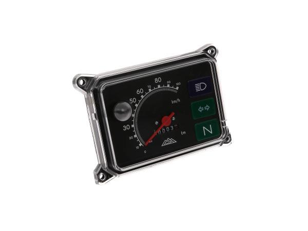 Tachometer, komplett mit Beleuchtung, 12V, 100 Km/h für SR50, SR80,  10001715 - Bild 1