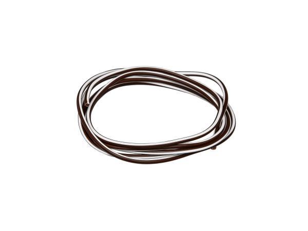 10001779 Kabel - Braun/Weiß 0,50mm² Fahrzeugleitung - 1m - Bild 1