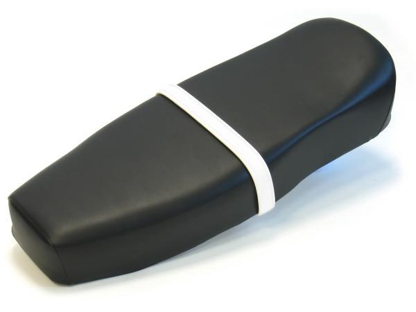 10065384 Halteriemen für Sitzbank weiß mit Ziernaht in Weiß - Handarbeit - Bild 1