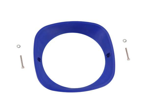 Scheinwerferring 3D, Blau - für Simson KR51 Schwalbe, SR4-2 Star, SR4-3 Sperber, SR4-4 Habicht - MZ ES125, ES150 - IWL TR150 Troll,  10070934 - Bild 1