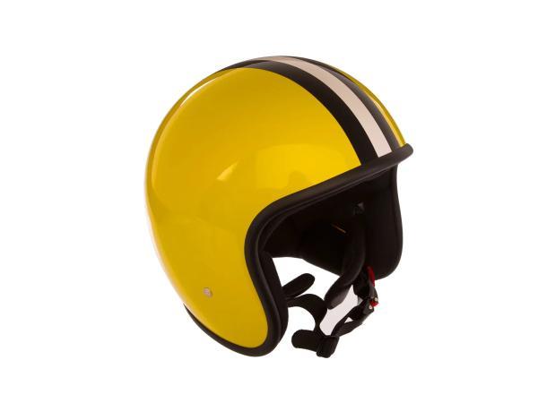 """ARC Helm """"Modell A-611"""" Retrolook - Gelb mit Streifen,  10068602 - Bild 1"""