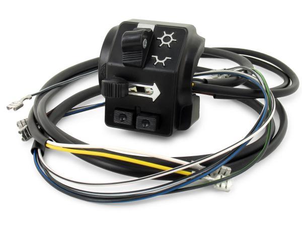 Schalterkombination 8626.19/3 mit Kabel und Lichthupe, 6 + 12V, Hochlenker - Simson S51, S70 Enduro,  10062799 - Bild 1