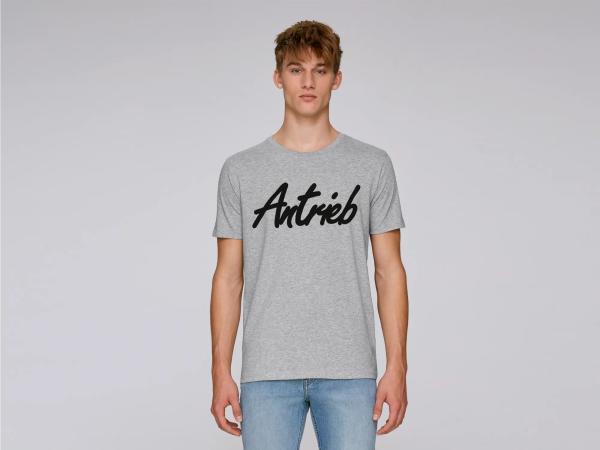 """Basic-Shirt """"Antrieb-Schriftzug"""" Grau/Schwarz,  10069075 - Bild 1"""
