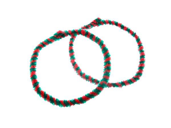 Nabenputzringe WÜMA Rot/Grün (Set 2x 56cm für Moped, Mokick),  10005744 - Bild 1