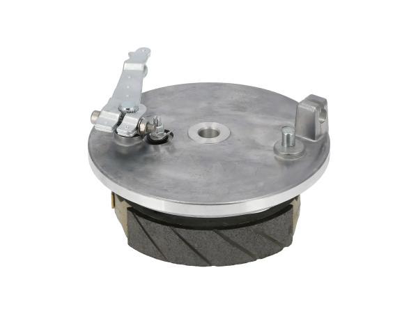Bremsschild hinten komplett, Sport - für Simson S51, KR51/2 Schwalbe, S70, S53, S83,  10016880 - Bild 1