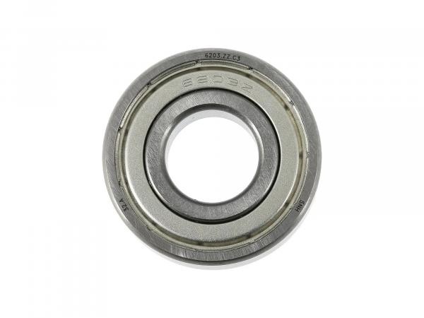 Kugellager 6203 C3 2Z, Hinterradantrieb - für Simson S50, S51, KR51 Schwalbe, u.a.,  10060003 - Bild 1