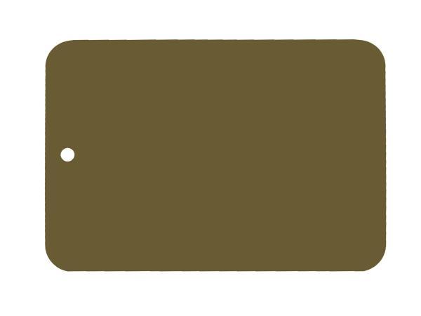 Farbmuster lackiert auf Blech, Leifalit, Olivgrün, glänzend,  10062136 - Bild 1
