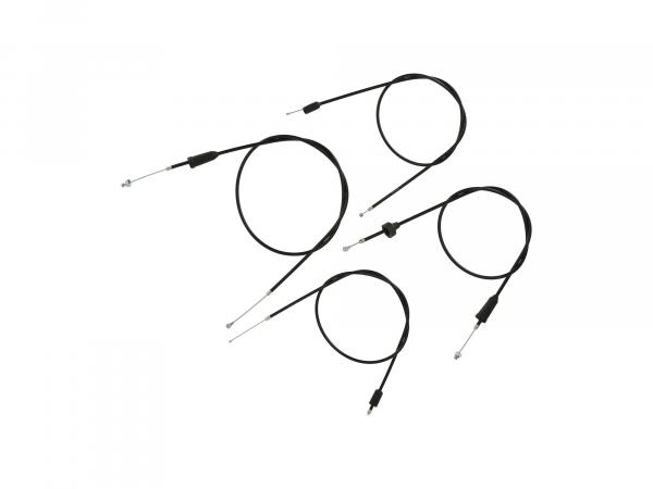 Set: 4 Bowdenzüge schwarz, Trommelbremse - MZ ETZ 250,  10069806 - Bild 1