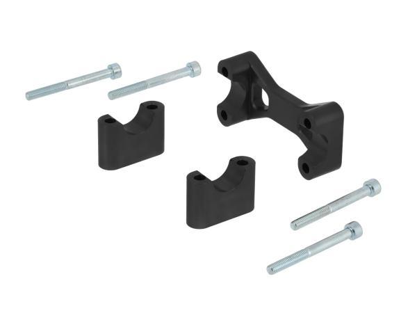 AKF Tuning-Lenkeraufnahme, Schwarz eloxiert - für Simson S50, S51, S70, Enduro,  10070561 - Bild 1