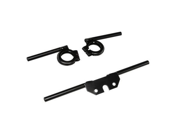 Set: Blinkleuchtenträger vorn und hinten, schwarz, Ø10mm - für Simson S50, S51, S70,  GP10000717 - Bild 1