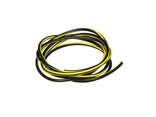 10001773 Kabel - Schwarz/Gelb 0,50mm² Fahrzeugleitung - 1m - Bild 1