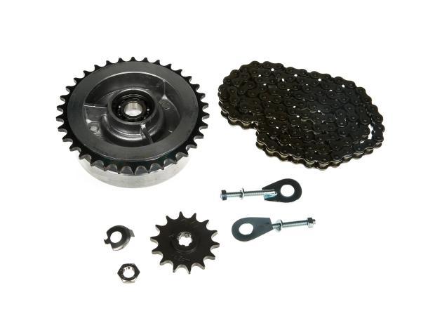 Kleines Kettenradantrieb-Set (Ketten-Set) - für Simson S50,  10000452 - Bild 1