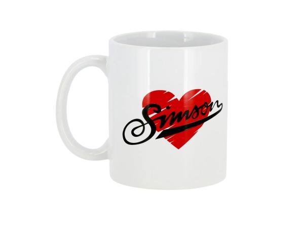 """Tasse """"I love SIMSON"""" Weiß,  10071113 - Bild 1"""