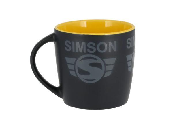 """Tasse """"SIMSON-Logo""""  Schwarz / Gelb,  10071111 - Bild 1"""
