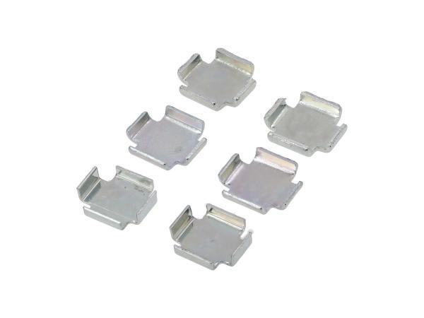 Set: 3x2 Bremsbackenzwischenlage 1,0 / 1,5 / 2,0 mm - Simson S51, S50, SR50, KR51 Schwalbe, SR4,  10044002 - Bild 1