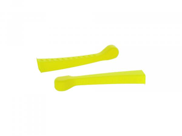 Set: 2x Handhebel-Hülle 3D, Neon Gelb, Sport-Optik - für Simson S50, KR51/1 Schwalbe, SR4-2,  10070478 - Bild 1