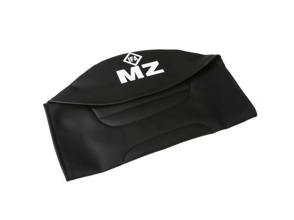 Sitzbezug strukturiert, schwarz mit MZ-Schriftzug - für MZ ETZ250,  10055998 - Bild 1