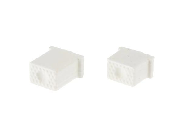 10069586 Set: Knopf für Hupe & Lichthupe 3D, Weiß, Doppeltaster - für S51, S70, SR50, SR80 - MZ ETZ - Bild 1