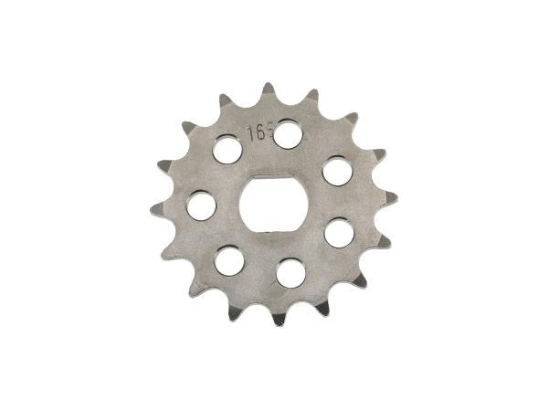 Ritzel RESO, kleines Kettenrad, Tuning 16 Zahn - für Simson S51, S70, S53, S83, KR51/2 Schwalbe, SR50, SR80,  10062802 - Bild 1