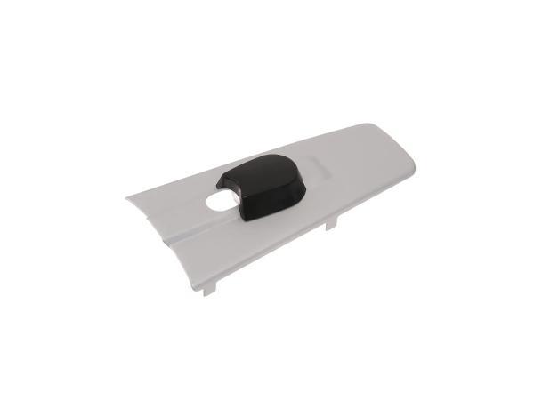 10060998 Abdeckkappe für Zündlichtschalter, stumpfe Form, silber-matt eloxierte Oberfläche - für MZ ES - Bild 1