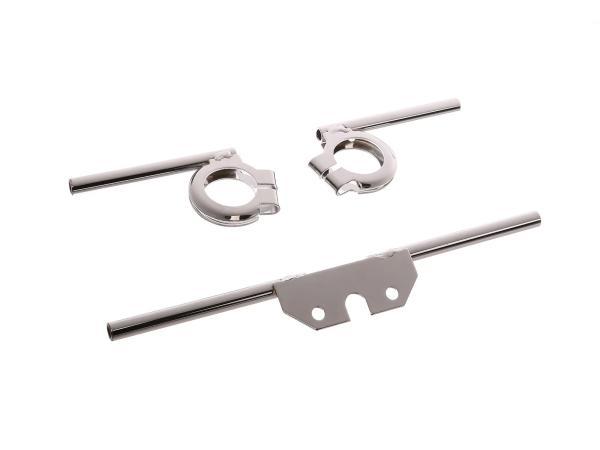 Set: Blinkleuchtenträger vorn und hinten, verchromt, Ø10mm - für Simson S50, S51, S70,  10000946 - Bild 1