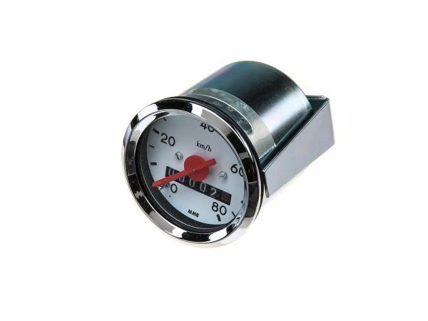Tachometer Ø48mm bis 80 km/h - für Simson KR51 Schwalbe, SR4-1 Spatz, SR4-2 Star, SR4-3 Sperber, SR4-4 Habicht,  10001717 - Bild 1