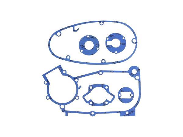 Dichtungssatz aus Kautasit Motortyp M53, M53/1 - für Simson KR51/1 Schwalbe, SR4-1 Spatz, SR4-2 Star, SR4-3 Sperber, SR4-4 Habicht,  10069353 - Bild 1