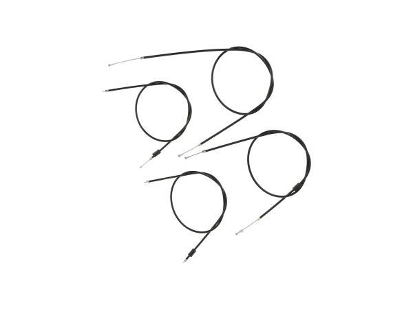 10070051 Bowdenzug-Set in Schwarz, Enduro + 50mm Überlänge - Simson S51, S70, S53, S83 - Bild 1