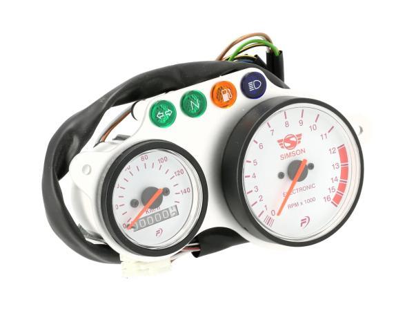 10070950 Anzeigeeinheit Facomsa - Tachometer + Drehzahlmesser - Simson Schikra 125 - Bild 1
