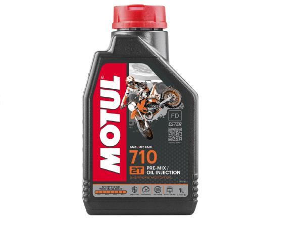 10055401 MOTUL 710   2-Taktöl, Synthese-Technologie  - 1 Liter - Bild 1