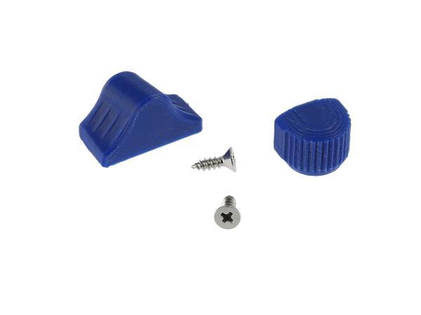 Set: Abblend- & Blinkerschalterknopf 3D, Blau - für S51, S70, SR50, SR80 - MZ ETZ,  10069057 - Bild 1