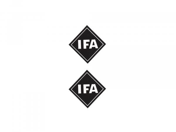 """Set: 2x Klebeschrift """"IFA"""",  10002939 - Bild 1"""