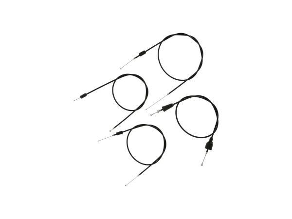 Set: 4 Bowdenzüge schwarz, Scheibenbremse, Öldosierung - MZ ETZ 251, 301,  10069819 - Bild 1