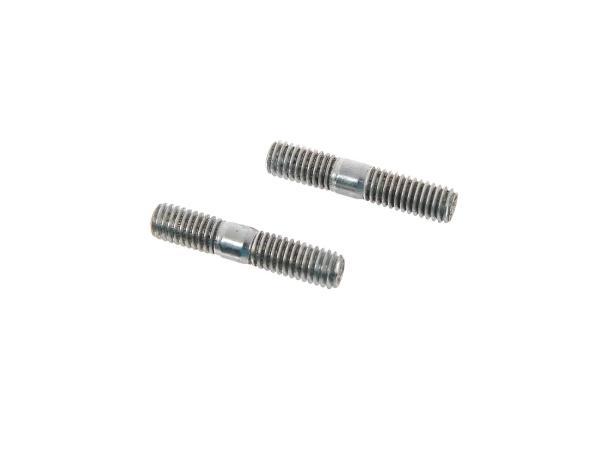 Set: 2x Stiftschraube M6x18 (Gesamt 30mm) - DIN835,  10063238 - Bild 1