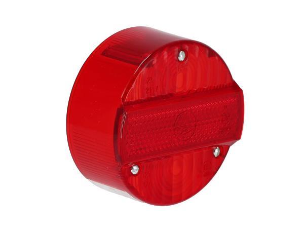 Rücklichtkappe rund, rot, Ø120mm mit KZB - Simson S50, S51, S70, S53, S83, KR51/2 Schwalbe, SR50, SR80,  10066821 - Bild 1