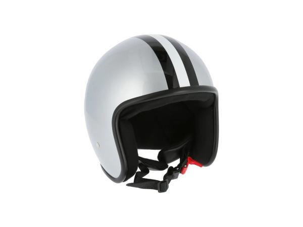 """ARC Helm """"Modell A-611"""" Retrolook - Silber mit Streifen,  10071222 - Bild 1"""