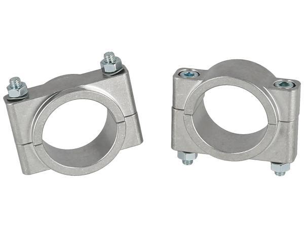 Set: CNC Klemmstücke für Schutzblech mit Schrauben - für Simson S50, S51, S70, SR50, SR80,  10070887 - Bild 1