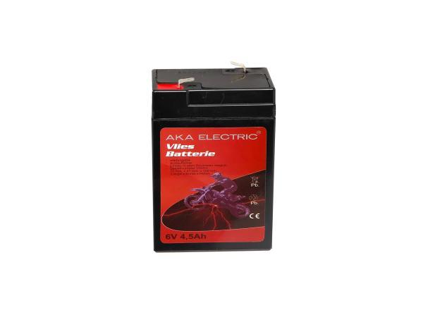 Batterie 6V 4,5Ah AKA (Vlies - wartungsfrei) für Umbausatz - für Simson AWO 425, MZ RT,  GP10068542 - Bild 1