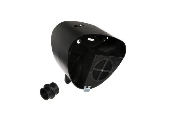 Airbox - Gehäusemittelteil mit FILU-LT Tuningluftfilter, Auslass Ø36mm - Simson S50, S51, S53, S70, S83,  10060144 - Bild 1