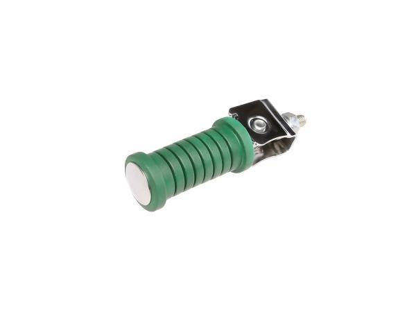 10054988 Beifahrerfußraste grün/chrom (passend für Motorrad MZ) - Bild 1
